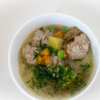 Meat Ball Soup. Frikadellisupp