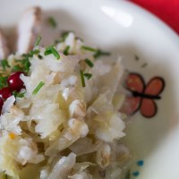 Estonian Style Sauerkraut with Pork and Barley. Mulgikapsad