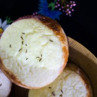 Estonian Traditional Curd filled Buns. Mulgi korbid