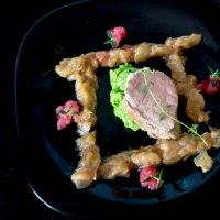 Pork Tenderloin with Rhubarb and Horseradish