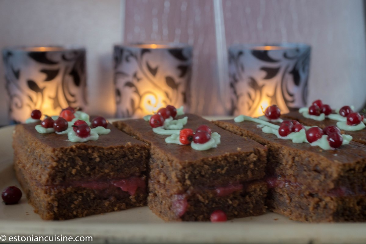Soft Gingerbread Cake. Pehme plaadipiparkook