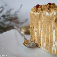 Vertical Layer Honey Cake. Meekook