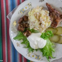 Estonian Potatoes and Groats Mash. Mulgipuder