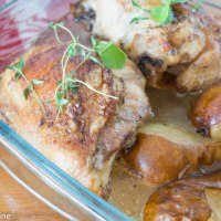 Chicken with Mustard and Pears. Kana pirni ja sinepiga