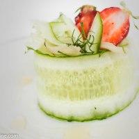 Rhubarb and Strawberry Salad. Rabarberi- maasikasalat