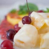 Braised turnips with cranberry sauce. Stoovitud kaalikad jõhvikakastmega