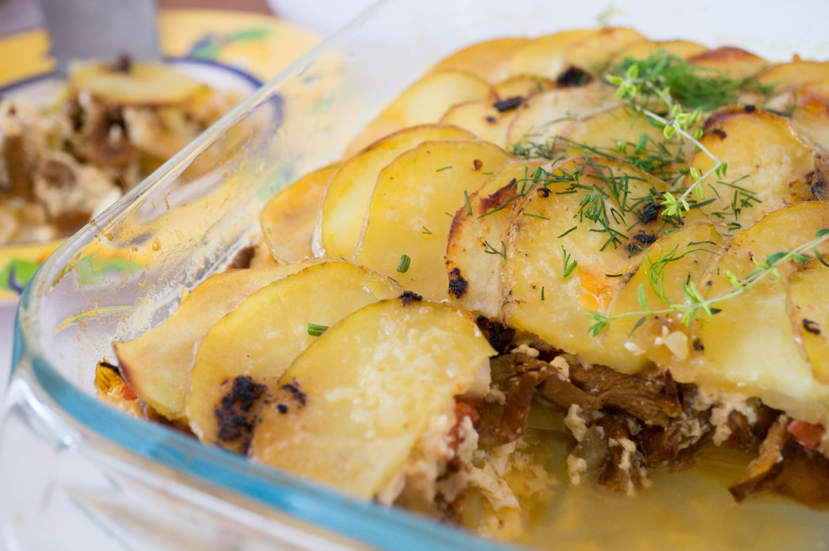 Potato and Mushroom Casserole. Kartuli ja seenevorm
