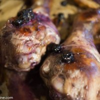 Chicken in Blueberry Marinade. Kana mustikamarinaadis