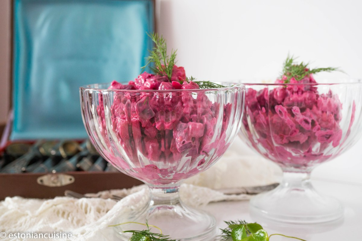 Beetroot and Herring Salad. Rosolje